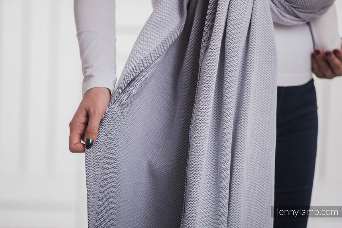 charpe tissage herringbone 100 coton little herringbone gris taille s. Black Bedroom Furniture Sets. Home Design Ideas